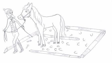 paard in tteam labyrint