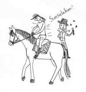 paardrijles paniek
